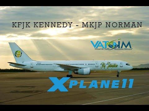 [X-PLANE11] KJFK - MKJP - REAL WORLD OPS - FLIGHT FACTOR 757- VATSIM