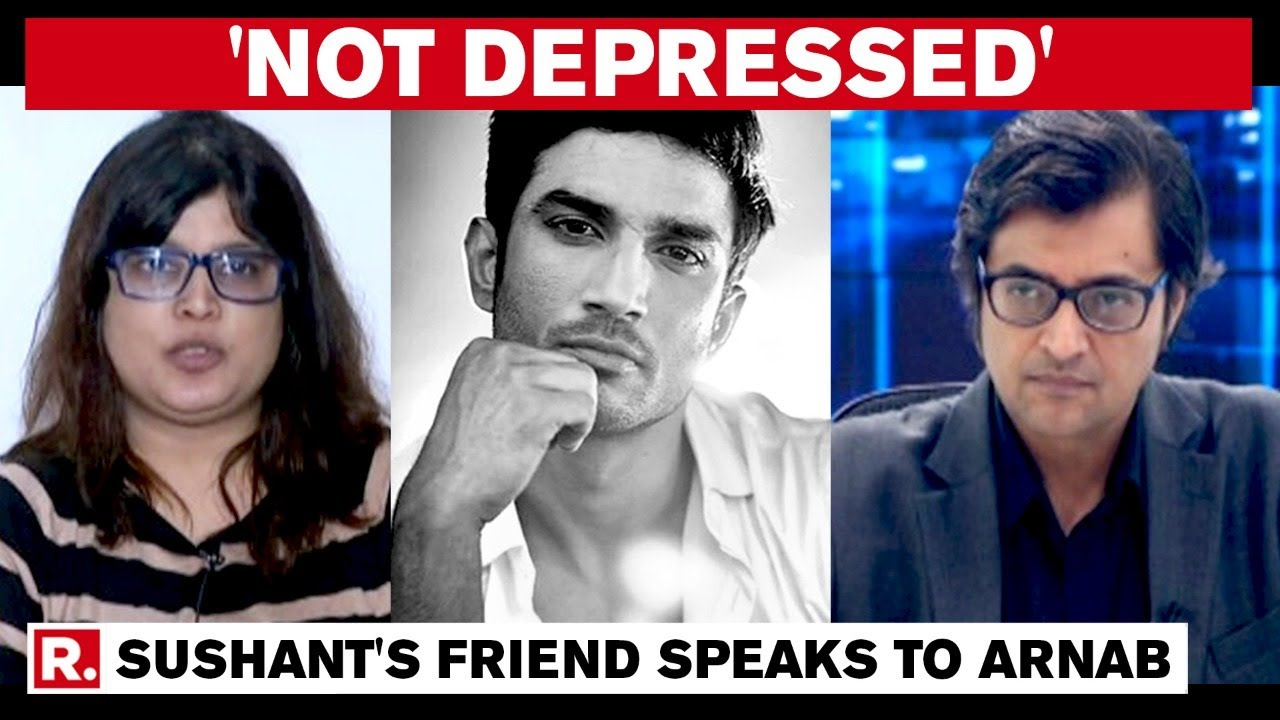 Sushant S Friend Smita Parikh Speaks To Arnab Says Sushant Was Very Scared Youtube