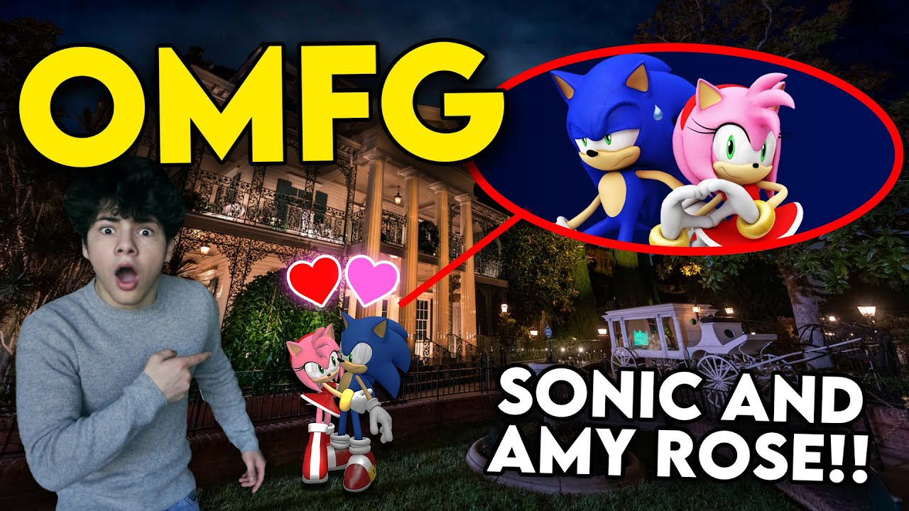 HUNTING FOR SONIC THE HEDGEHOG & AMY ROSE INSIDE A HAUNTED MANSION!! (THEY KISSED?!)