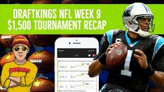 DraftKings NFL Week 9 🏈💲$1,500 Tournament Review (Live Stream)