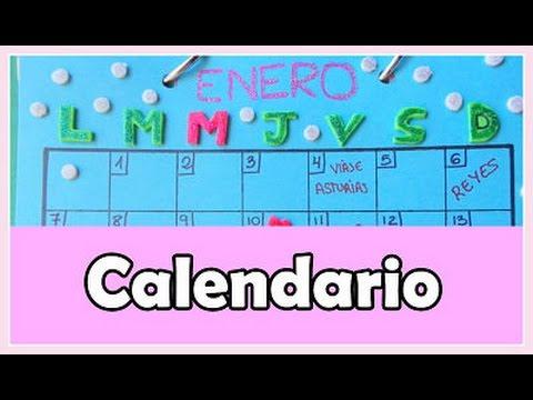 Cómo hacer un calendario de mesa - Cartulina