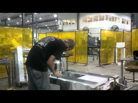 Building/welding a stainless cabinet