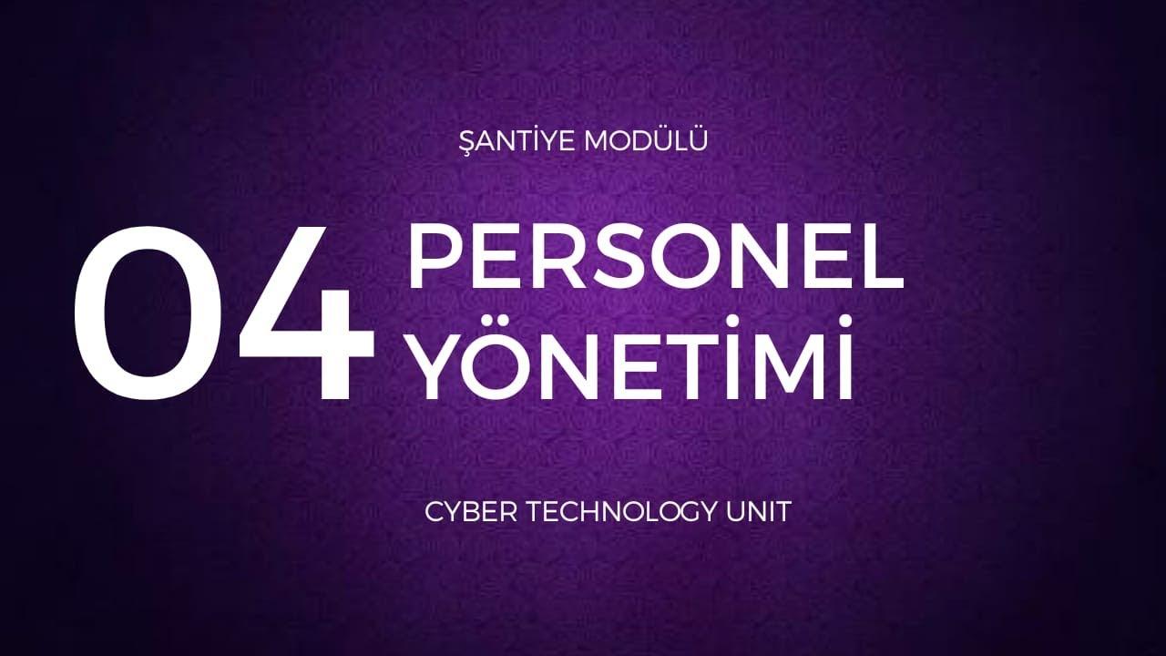 Personel yönetimi teknolojisi