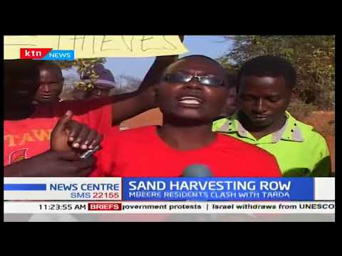 Mbeere residents clash with TARDA over sand harvesting levies