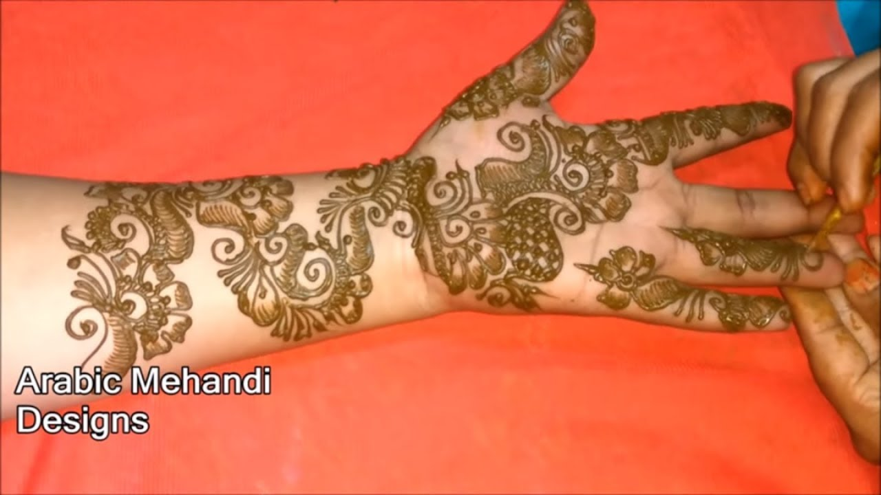 Easy Full Hand Bridal Mehandi Designs Latest Simple Wedding Arabic Mehndi Designs Front And Back