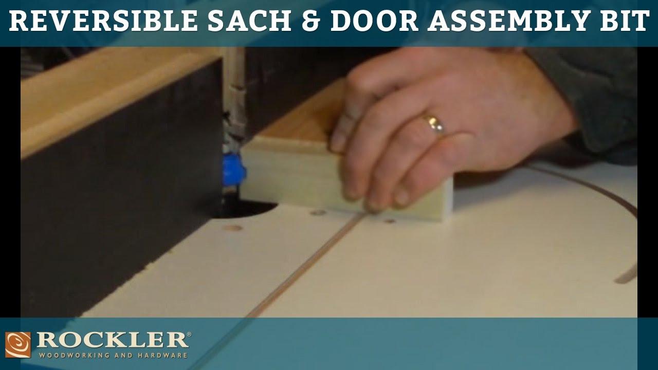 Rockler Reversible Sash Door Assembly Router Bit