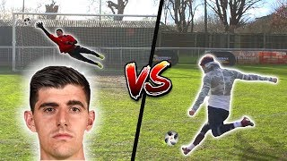 F2 SHOOTING VS COURTOIS!!! 💥⚽️🥅 | Billy Wingrove & Jeremy Lynch