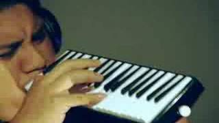 Kiki Sanchez playing the Melodica (Lando Blues).