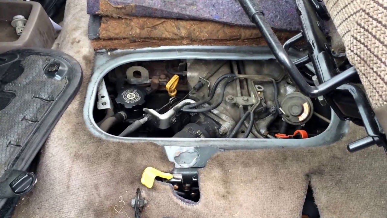 toyota previa engine location youtube