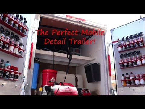 Full Tour Of My Mobile Detail Trailer Set Up!!!