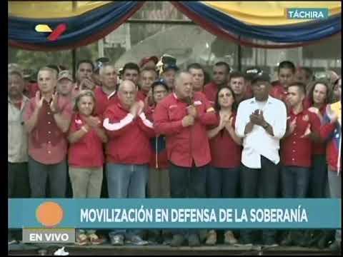 Diosdado Cabello advierte a tachirenses sobre falsos positivos que oposición pueda intentar el 12-F