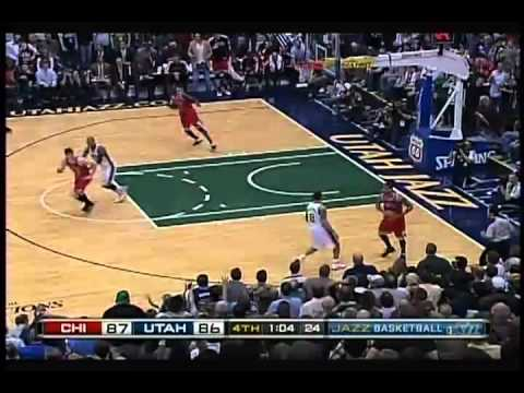 Derrick Rose Big Steal On Deron Williams