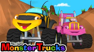 Learn Shapes for Toddlers- Monster Truck Cartoon for Children