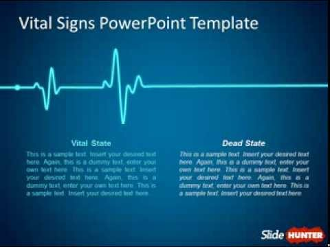 free animated powerpoint template with vital signs - youtube, Powerpoint templates