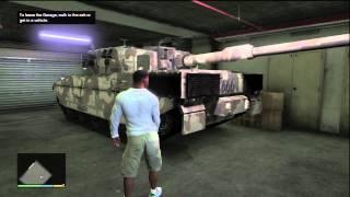 GTA V - Rhino Tank Storage (Grove Street Garage)