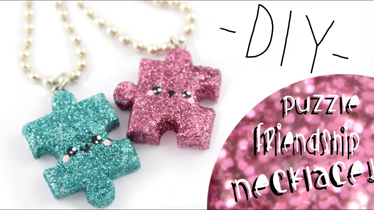 puzzle friendship necklaces! -diy- | kawaii friday - youtube