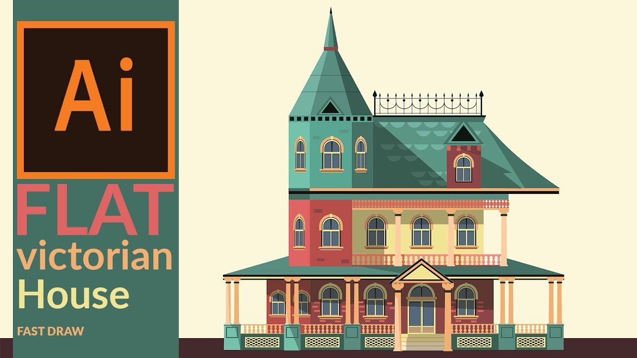 drawing a victorian era house in illustrator fast drawing youtube