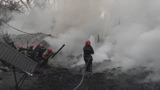 Ліквідовано масштабну пожежу літнього кафе у м. Первомайськ