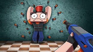Minecraft - NERF BATTLE ARENA! (NOOB vs PRO vs HACKER)