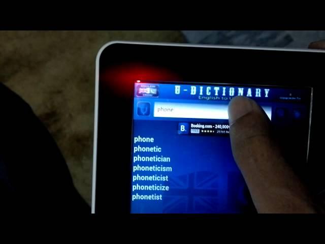 App Demo: U-Dictionary, English to Urdu Dictionary
