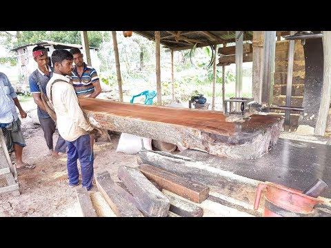 Black Teak Wood Slice Cutting at Rural Sawmill/Rear Teak Wood For Making Furniture Asia