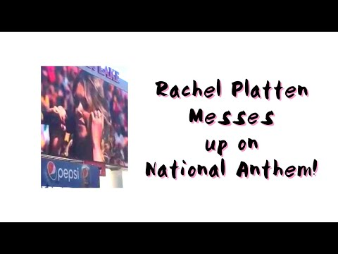 Rachel Platten messes up on National Anthem!!