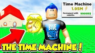 BUYING The $9999 ROBUX TIME MACHINE In BUILDING SIMULATOR!! (Roblox)