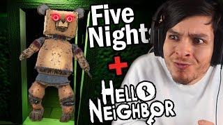 EL VECINO ES UN ANIMATRÓNICO !! OMG - FIVE NIGHTS AT NEIGHBOR (Hello neighbor + FNAF)