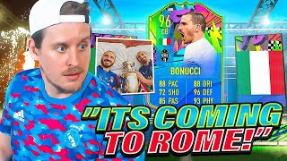 IT'S COMING ROME! 96 SUMMER STARS BONUCCI PLAYER REVIEW! FIFA 21 Ultimate Team