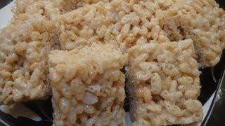How To Make Vanilla Rice Krispie Treat Recipe - 脆脆米甜點