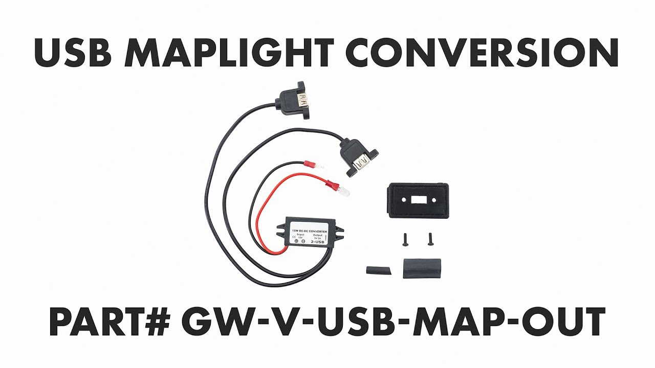 USB Port Map Light Conversion Kit