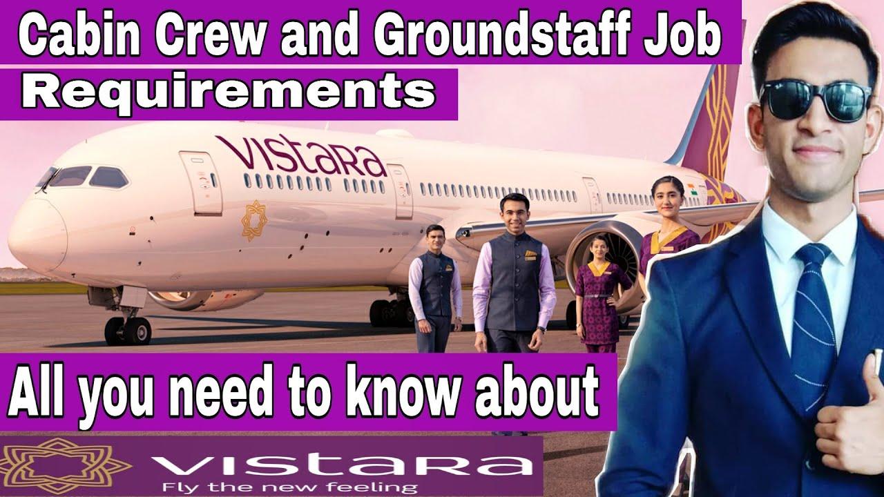 Vistara Airlines | vistara Cabin crew jobs 🚨 | Airport Jobs | Airline Jobs | Jet Airways |