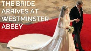 Catherine Middleton Walks Down The Aisle