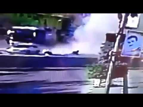 Missile Hits Motorcycle