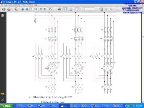 PLC S7-300 điều khiển khởi động bằng sao/tam giác cho lần lượt 3 động cơ 3 pha không đồng bộ 6