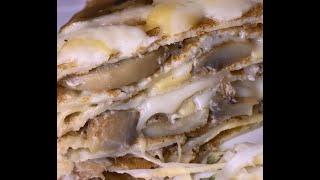 Блинный торт с грибами и сыром рецепт Shorts
