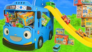 Tayo the Little Bus Friends Toys - الحفار, الجرار, سيارة الإطفاء