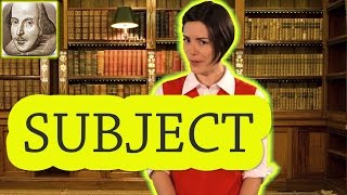 English Grammar Basics:  What is a Subject?