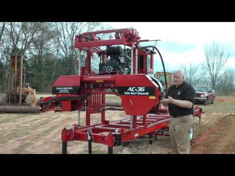Cook's AC36 Hydraulic Sawmill Demo 2016