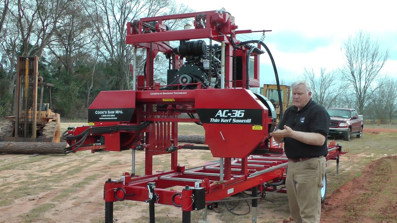 Saw Mill For Sale >> Cook's AC36 Hydraulic Sawmill Demo - YouTube