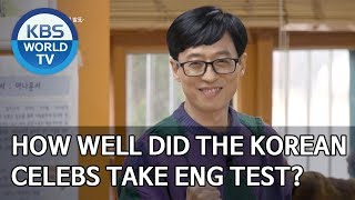 How well did the Korean celebs take English test? [Happy Together/2020.03.12]