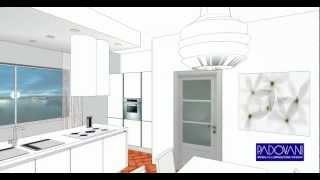 Video 3D progetto di arredamento zona giorno