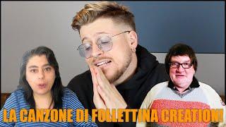 REAGISCO ALLA CANZONE DI FOLLETTINA CREATION!