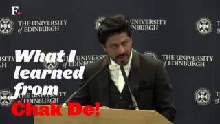 Watch: The 10 most valuable life lessons from 'Dr' Shah Rukh Khan's speech at Edinburgh