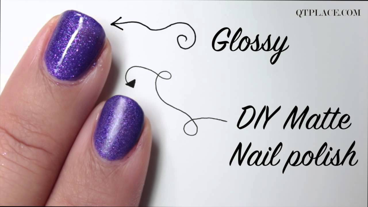 DIY how to make matte nail polish - YouTube