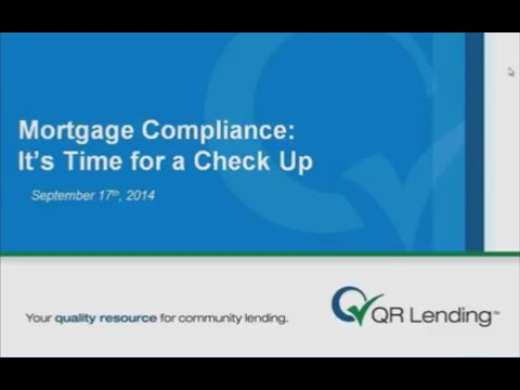 Mortgage Compliance: It's Time for a Check Up
