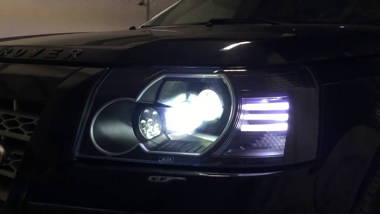 Land Rover Freelander 2 Custom Headlights - YouTube