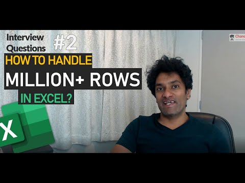 How to handle more than million rows in Excel - Interview Question 02