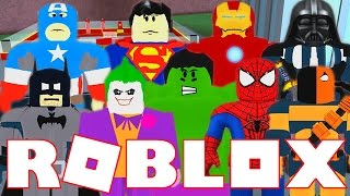 WE ARE SUPERHEROES IN ROBLOX!!! | Superhero Tycoon Roblox Gameplay