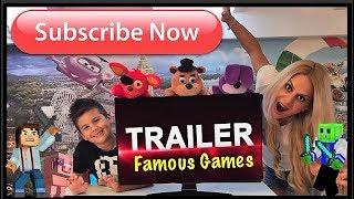 Trailer Famous Games 🎥Greek Blogger 🎬 κανάλι για τα παιδιά με πολλα παιχνιδια    ελληνικα